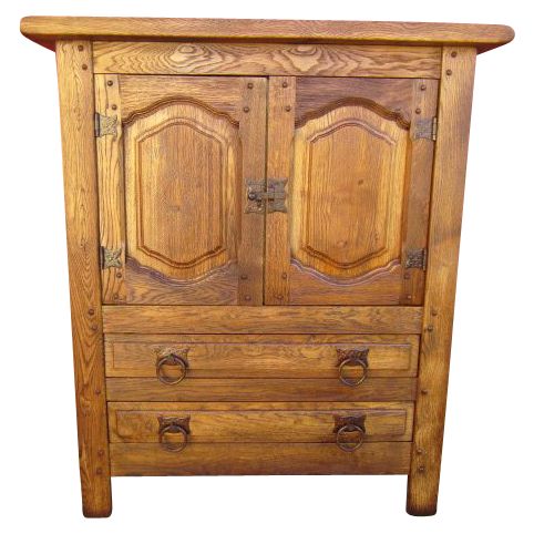 Spanish Antique Arts and Crafts Mission Server Cabinet  Bar Antique Furniture