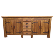 Antique Furniture Spanish Antique Oak Sideboard Cabinet!