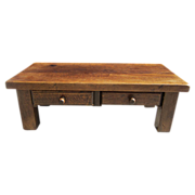 Antique Furniture French Antique Rustic Coffee Table Bench With Drawers!