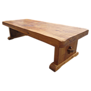 Antique Furniture French Antique Rustic Oak Arts and Crafts Coffee Table!