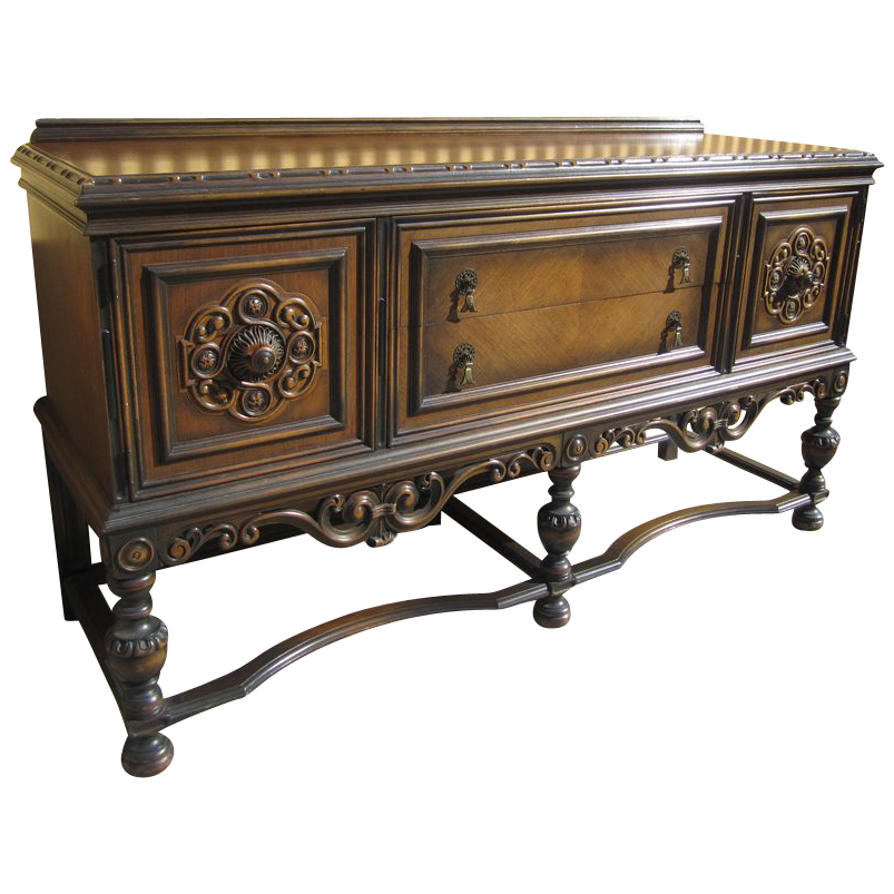 American Antique Berkey & Gay Carved Sideboard Antique Furniture!