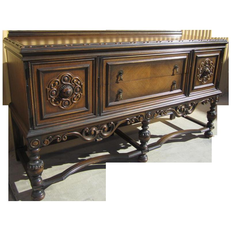 American Antique Berkey & Gay Carved Sideboard Antique Furniture!