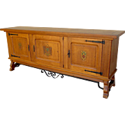 Spanish Antique Sideboard c. 1900 with keys
