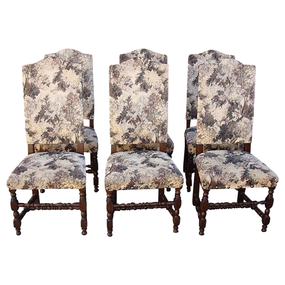 Antique Furniture Six Spanish Antique Dining Chairs!