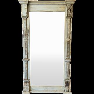 Scandinavian Grey Painted Mirror