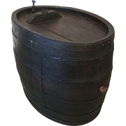 French Antique Large Wine Barrel