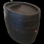 French Antique Large Wine Barrel