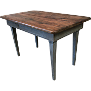 French Antique Scrub Top Farm Table