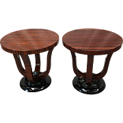 Pair of Vintage Art Deco / Art Moderne Side Tables