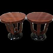 Pair of Vintage Art Deco / Art Moderne Side Tables