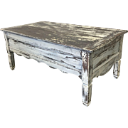 French Country Antique  Painted Coffee Table