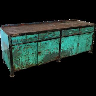 Industrial Painted Metal Server Sideboard