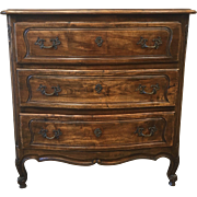 French Antique Serpentine Front Chest Dresser