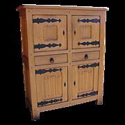 Antique Furniture French Rustic Oak Server Cabinet!