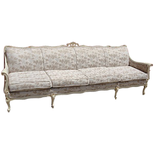 Beautiful Vintage Painted French Provincial Sofa Couch  Shabby Chic!