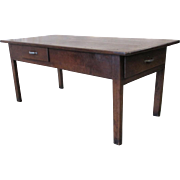 French Antique Farm Table With Drawers Antique Furniture