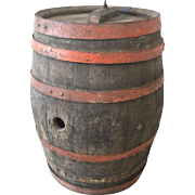 French Antique Wine Barrel Vineyard Decor