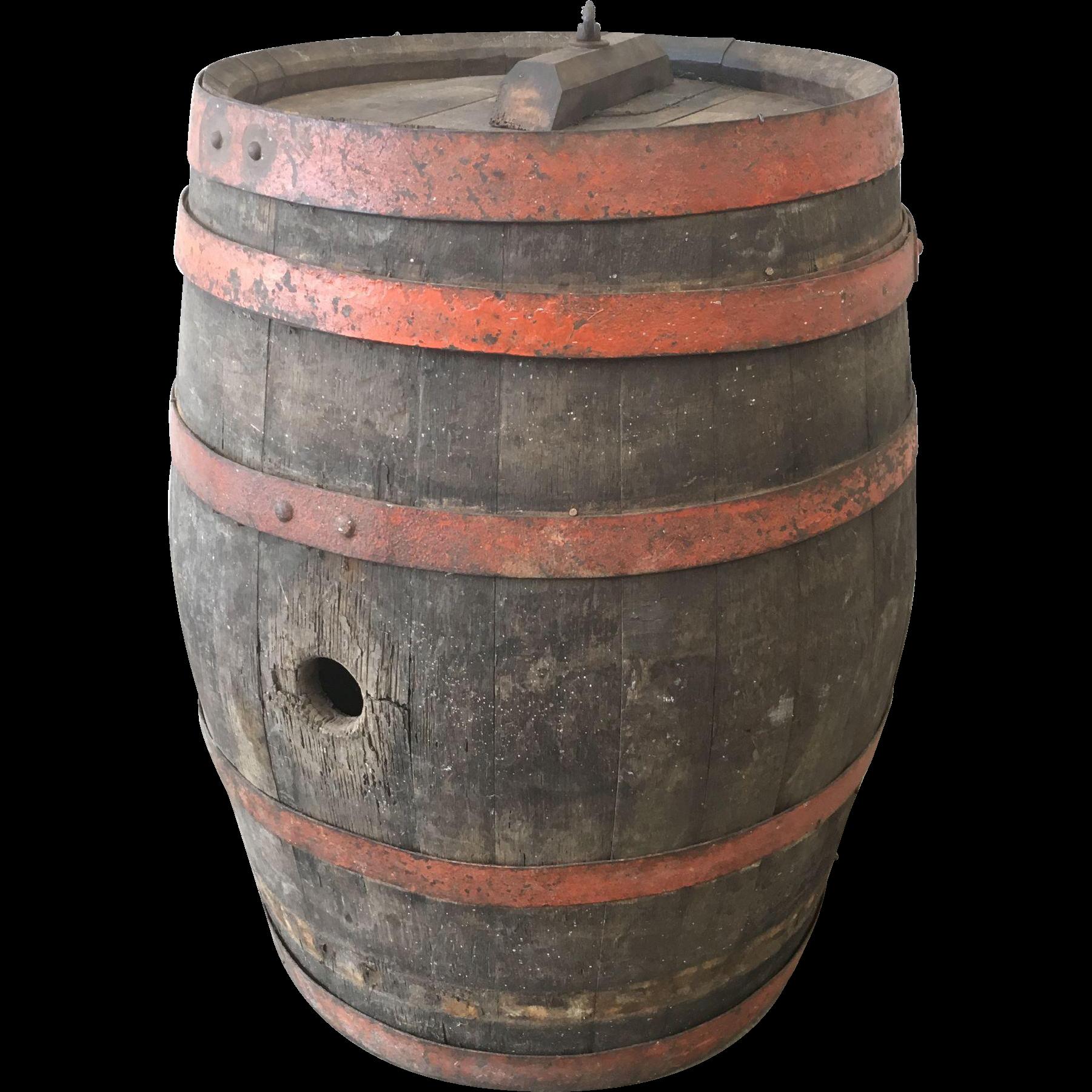 French Antique Wine Barrel Vineyard Decor