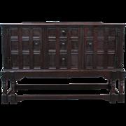 English Antique Carved Jacobean Server Sideboard