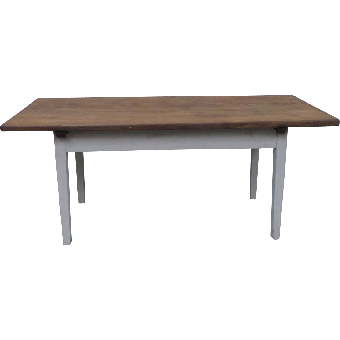 Danish Antique Rustic Painted Dining Table Farm Table