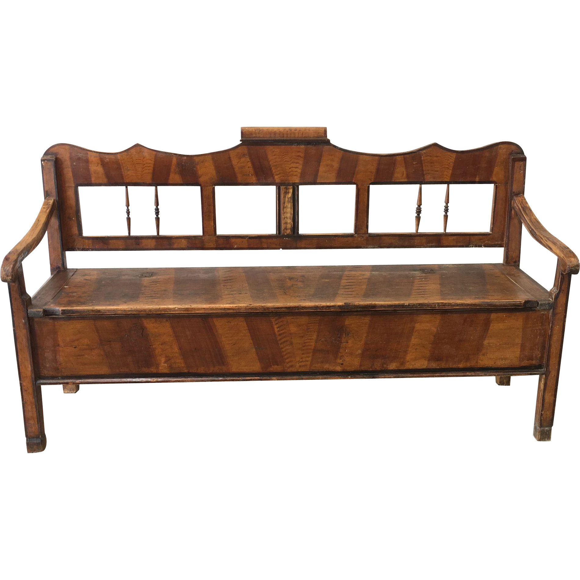 Rustic Antique Hall Bench Castle Bench With Storage Antique Furniture