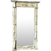Rustic Painted Antique Floor Mirror Hall Mirror Shabby Chic