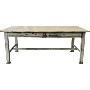 Antique Kitchen Island Table Dining Table With Drawers Antique Furniture