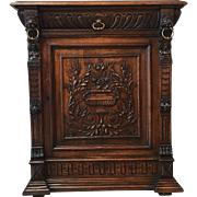 French Antique Carved Vestry Cabinet Console Buffet Antique Furniture