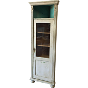 Antique Single Door Corner Display Cabinet