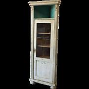Antique Single Door Corner Display Cabinet