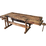 Primitive Antique Work Bench Rustic Work Bench