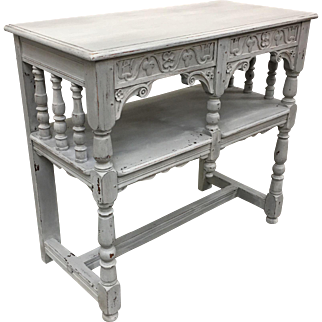 Painted Scandinavian Console Entry Table Server