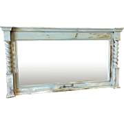 Antique Painted Barley Twist Mantle Mirror