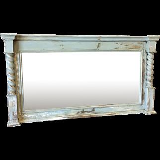 Antique Painted Barley Twist Mantle Mirror
