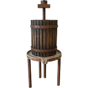 French Antique Rustic Wine Press Vineyard Wine Press