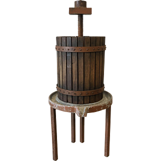 French Antique Rustic Wine Press Vineyard Wine Press