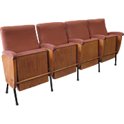 Mid-Century Italian Theatre Seats With Iron Base