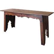 French Antique Gothic Sofa Table Console Table