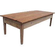 Danish Antique Rustic Pine Coffee Table Antique Furniture