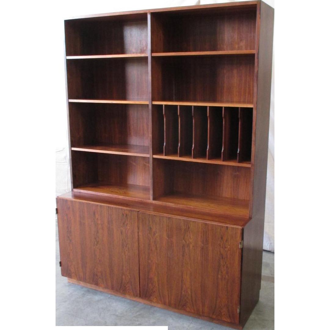 Mid-Century Modern Bookcase Credenza Vintage Furniture