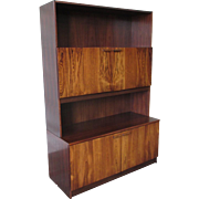 Mid-Century Modern Rosewood Bookcase Cabinet Vintage Furniture