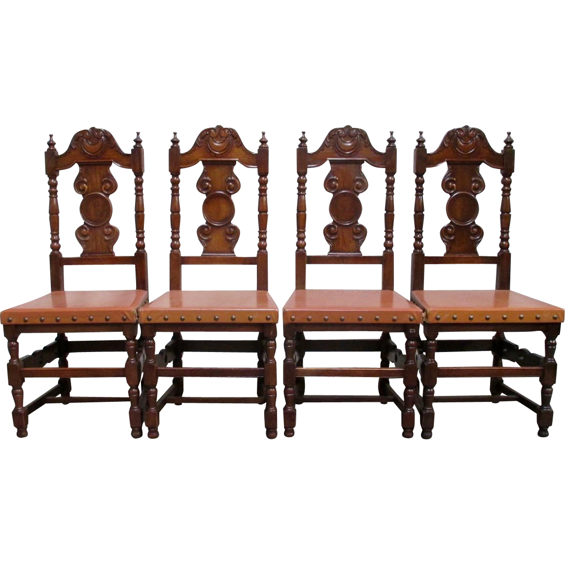 Spanish Antique Carved Dining Chairs Antique Furniture