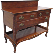 Antique English Mahogany Sideboard Server Antique Furniture