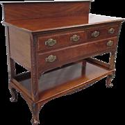 Antique English Mahogany Sideboard Server Antique Furniture