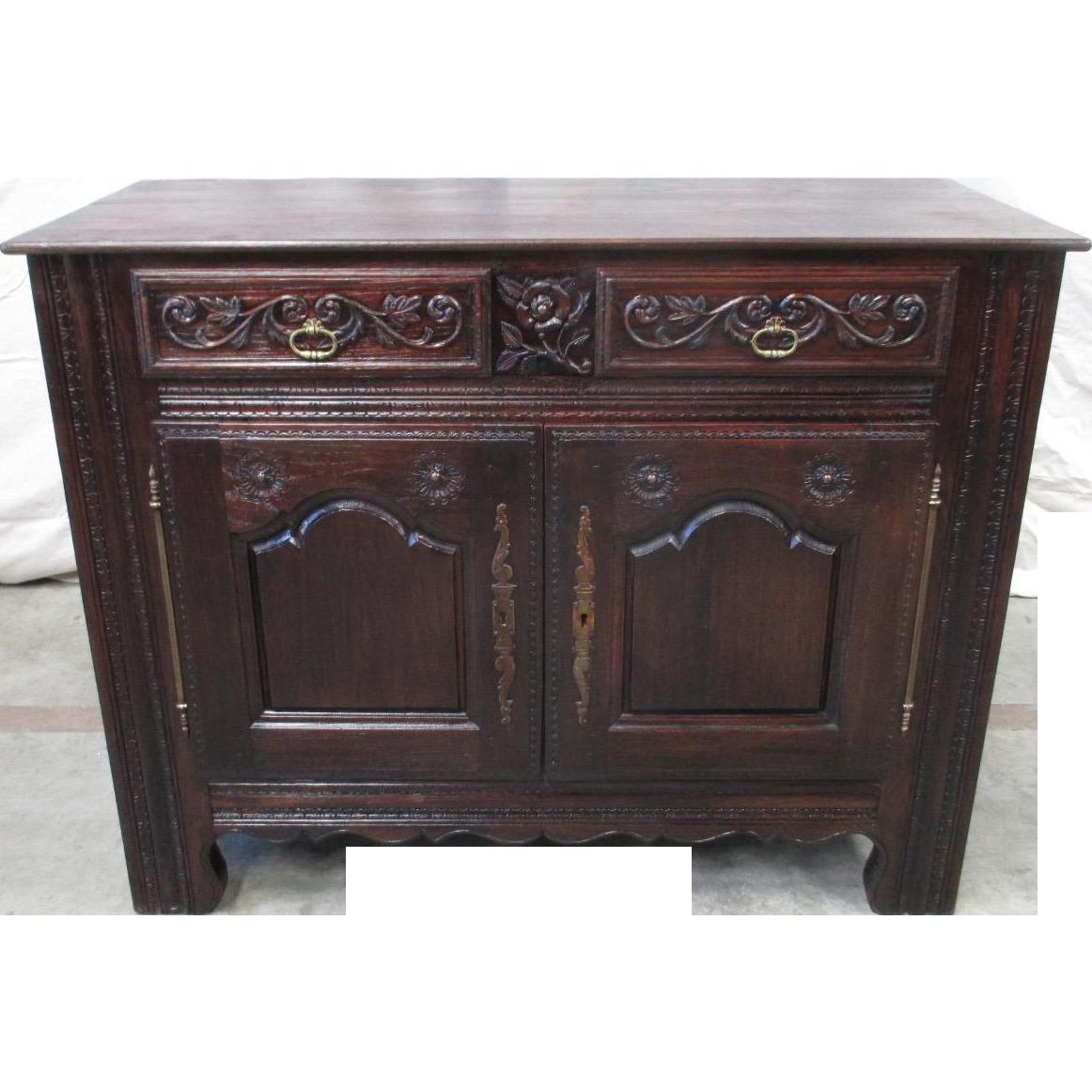 French Antique Carved Sideboard Server Antique Furniture
