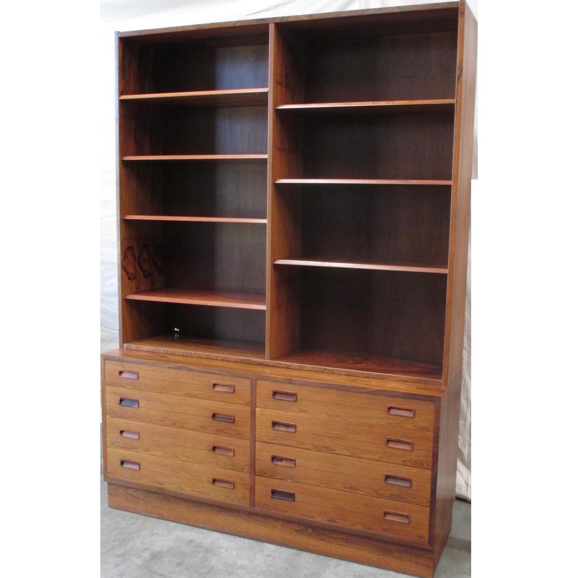 Danish Mid-Century Modern Bookcase Vintage Furniture