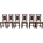 French Antique Dining Chairs With Rush Seats Antique Furniture
