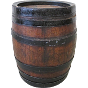 French Antique Wine Barrel with Iron Straps