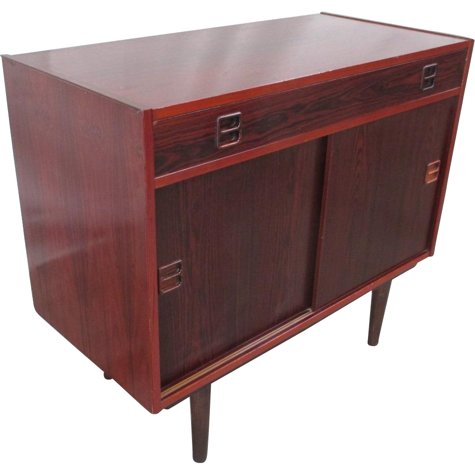Mid-Century Modern Rosewood Console Table Vintage Furniture