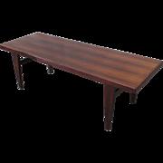 Mid-Century Modern Rosewood Coffee Table Vintage Furniture